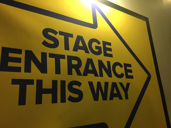 Stage Entrance This Way
