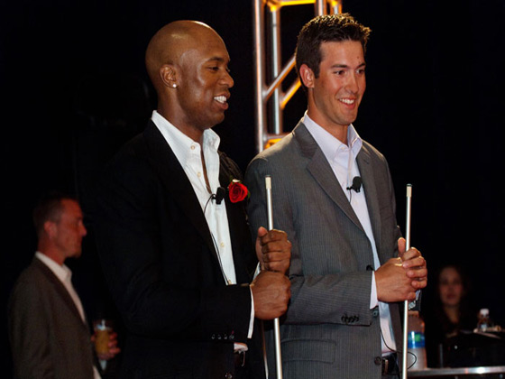 Austin Jackson with Rick Porcello at MLB event
