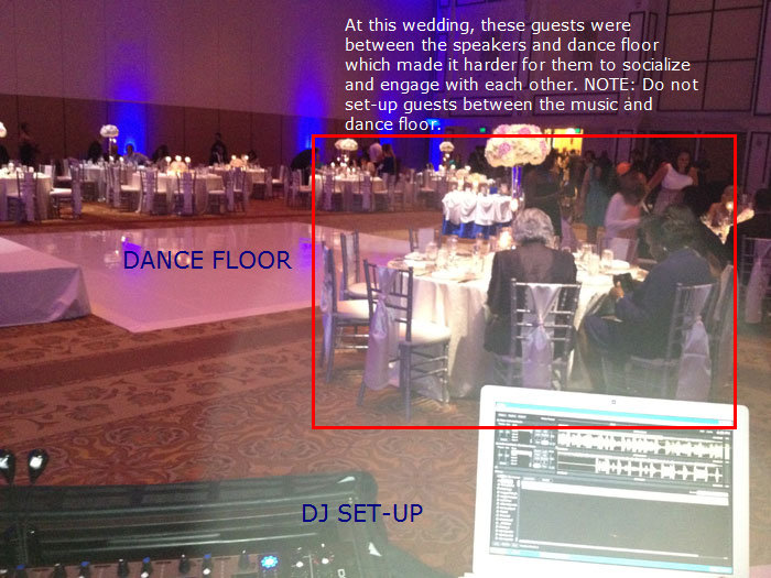 Bad DJ table set-up | Disney Orlando wedding