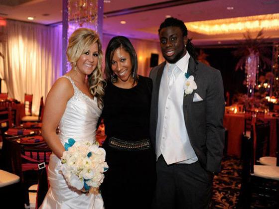 Sharia Riley at Deji Karim Jacksonville wedding