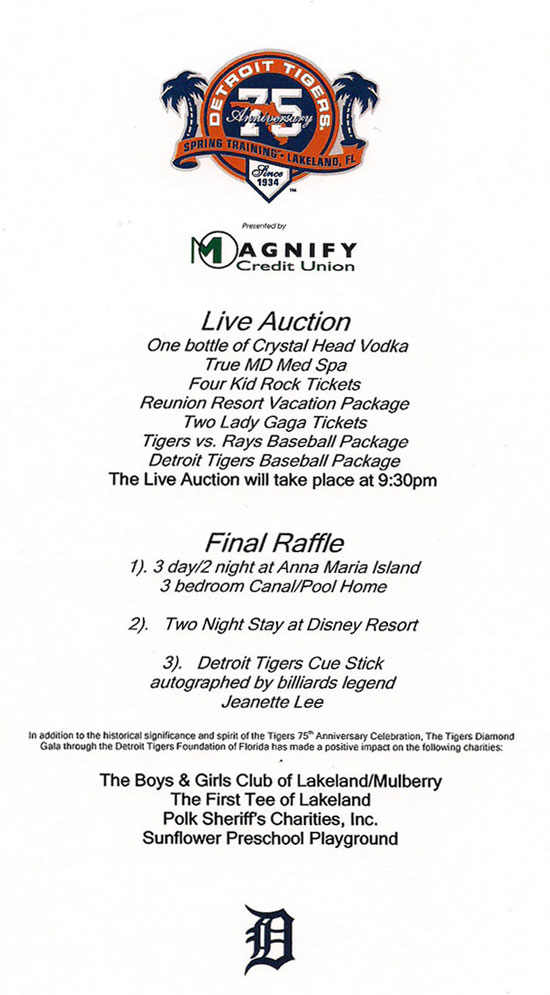 detroit tigers auction image