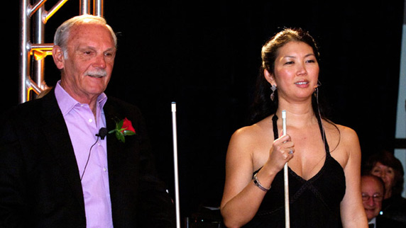 Jim Leyland with Jeanette Lee