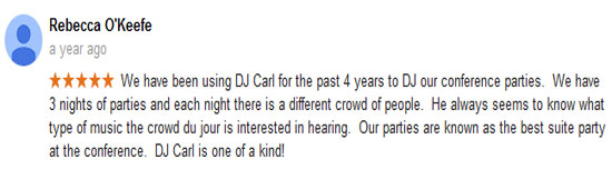 DJ Carl© Corporate Event review