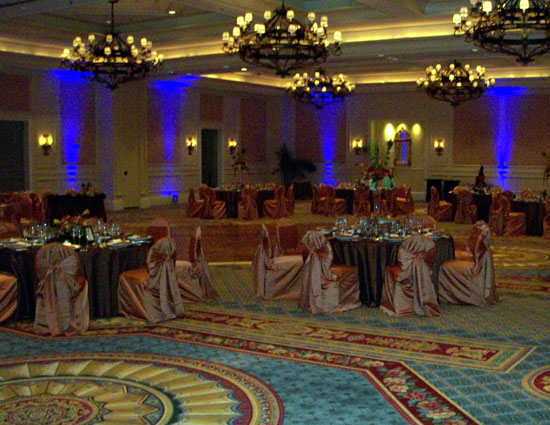 dj carl ritz carlton uplighting image
