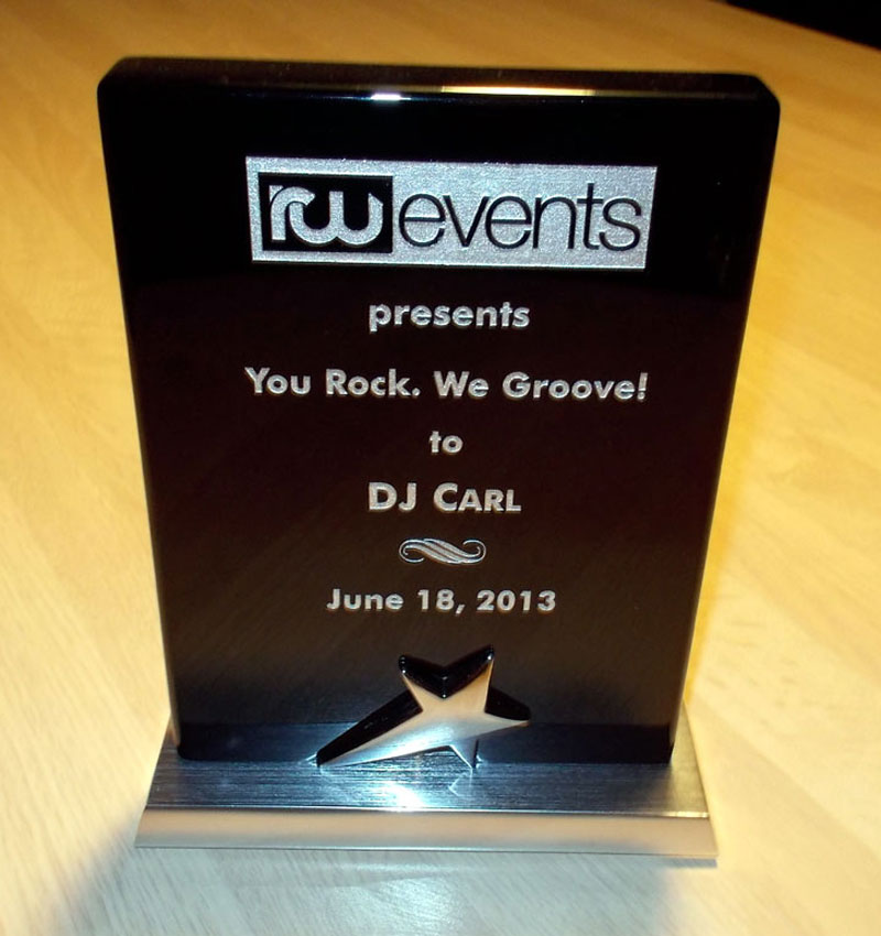dj carl rw events award image