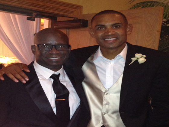 Grant Hill at Duke friend's wedding