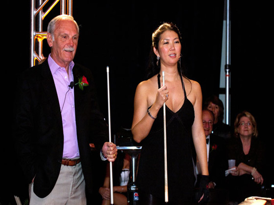 Jim Leyland and Jeanette Lee at MLB event