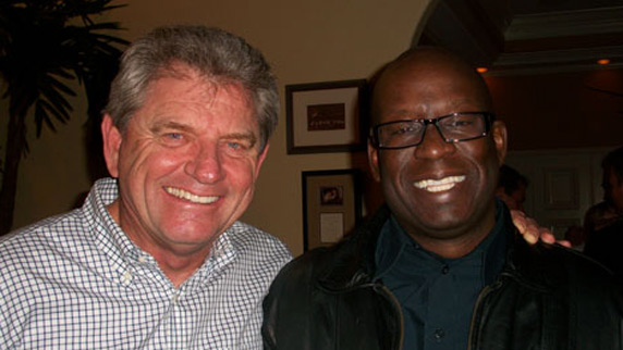 Nick Price and DJ Carl© at golf home