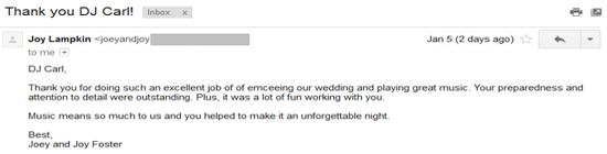 Orlando wedding review