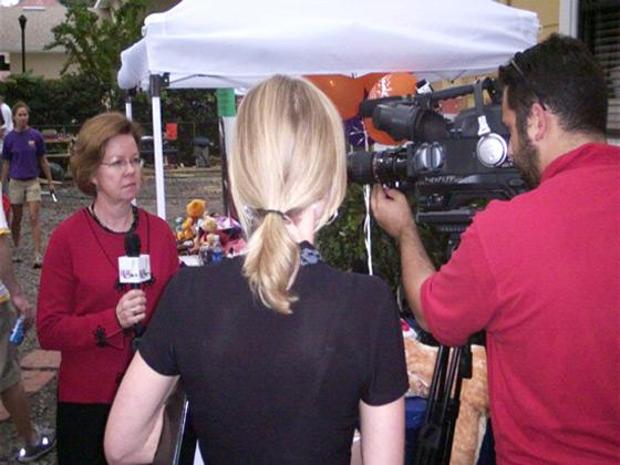 Pepsi event in Orlando with the media