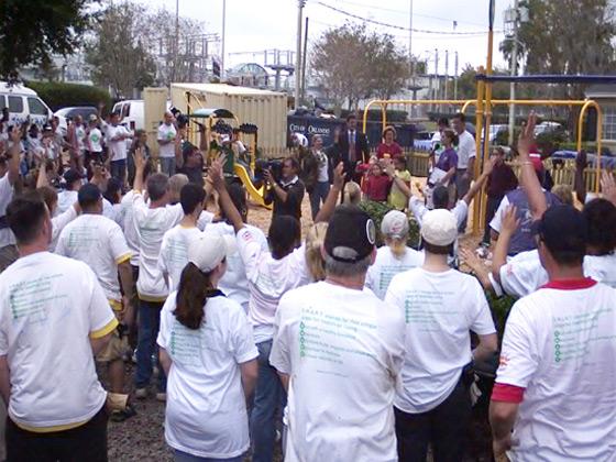 Pepsico event with volunteers