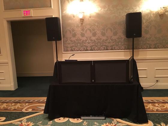 Portofino Bay Hotel DJ setup