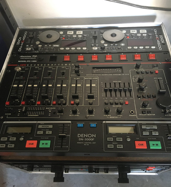 Rent DJ Case with mixer and controller in Orlando Florida