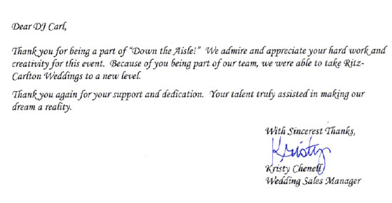 ritz carlton orlando wedding letter image