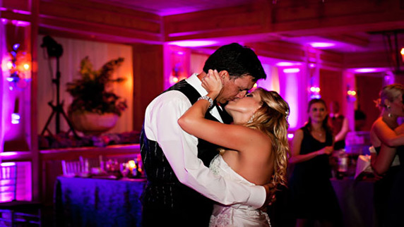 Ritz Carlton Sarasota wedding kiss