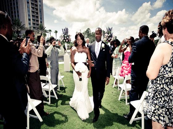 Waldorf Astoria Orlando Bride & Groom married