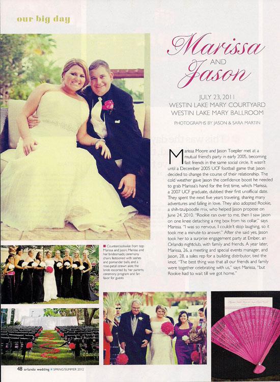 Westin Lake Mary Wedding