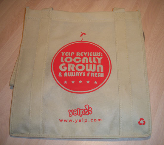 Yelp for business bag from DJ Carl©